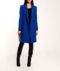 Boyfriend Coat in Electric Blue / Etam