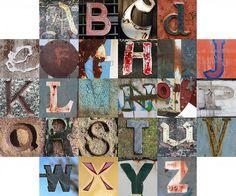 rusty and crusty letters by Tom Magliery Old English Alphabet, Greek Alphabet, Alphabet Art, Alphabet Soup, Alphabet Photography, Making Words, Middle School Art, Subway Art, Penmanship