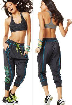 Women's Clothing Comfy Hip Hop Capri Fame Dance Pants+tri-me Mid Level Bra Top S M Attractive Designs; Honest Zumba 2pc.set