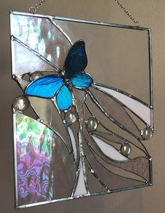 Painted Glass Art Old Windows Glass Art Diy Votive Candles Stained Glass Birds, Stained Glass Suncatchers, Stained Glass Crafts, Stained Glass Designs, Stained Glass Panels, Fused Glass Art, Mosaic Glass, Glass Vase, Sea Glass