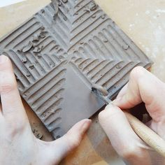 """445 Likes, 7 Comments - Hilda Carr (@hildacarrpottery) on Instagram: """"Carving tiles today... The good thing about the start of the year is that I always seem to have a…"""""""