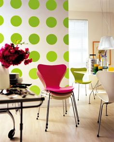 dotted wall...now thats an idea to play with