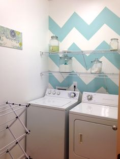 Chevron Laundry Room Makeover!