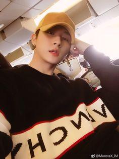 that's Monsta X — fymonsta-x: I.M's Weibo update. Jooheon, Hyungwon, Yoo Kihyun, Shownu, Minhyuk, Monsta X Wonho, Gwangju, K Pop, Rapper