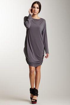 Planet  Matte Jersey Ruched Tunic Dress