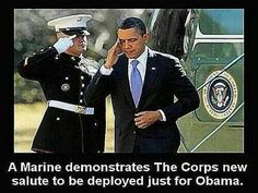 The Marines Corps New Salute.
