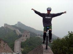 Equilibro en monociclo en la Muralla China