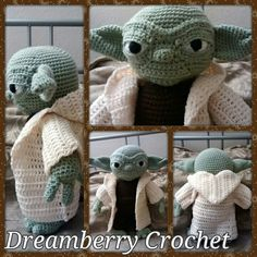 Crochet Yoda doll. I love him!!!!!