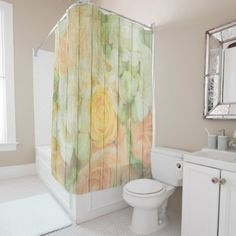 #wood - #Floral Rustic Weathered  Wood Shower Curtain