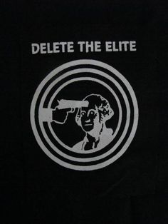 Delete the Elite Anarchist Punk DIY Patch Screen by massmedia, $2.50