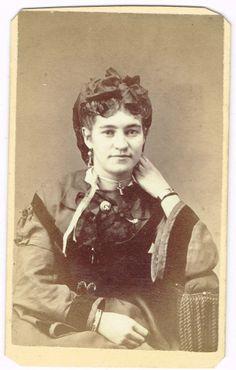 Young Lady Bracelets Cross in Greenville Ohio by J. Harper 1870's CDV