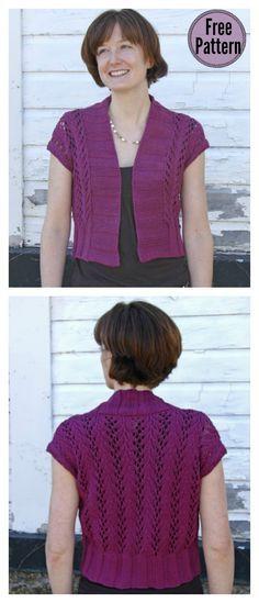 33bf6c121770d Four Seasons Vine Lace Vest Free Knitting Pattern