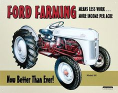 P GRAHAM DUNN Need a Caretaker God Made a Farmer Tractor 12 x 18 Inch Wood Printed Decorative Wall Plaque Sign