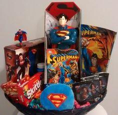 $50 @Ebay SALE Handmade LG SUPERMAN Easter Gift Basket  #Superman