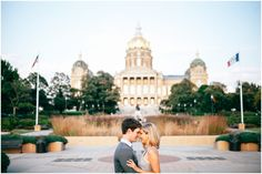 State Capitol Engagement Session in Des Moines