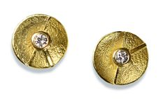 ARS Earings gold 750/- with diamonds