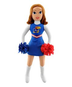Take a look at this Bleacher Creatures Kansas Cheerleader Plush Doll by Bleacher Creatures on #zulily today!