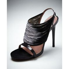 Shop Degrade Thread Sandal from Tabitha Simmons at Neiman Marcus Last Call, where you'll save as much as on designer fashions. Pretty Shoes, Beautiful Shoes, Calf Leather, Leather Shoulder Bag, Neiman Marcus Shoes, Shoes World, Tabitha Simmons, Evening Shoes, Black Sandals