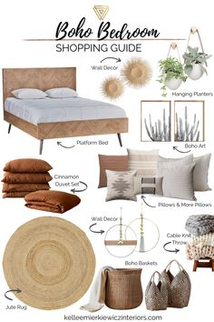 Boho bedroom shopping guide to get that cozy boho bedroom you've always wanted. Create this boho bedroom style in your home today! Shop the links now! Boho Bedroom Decor, Boho Room, Boho Living Room, Room Ideas Bedroom, Home Bedroom, Living Room Decor, Boho Decor, Decor Room, Boho Bedrooms Ideas