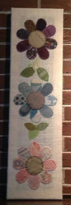 3 Flowers #1 Fabric Wall Art by CottonwoodCove on Etsy