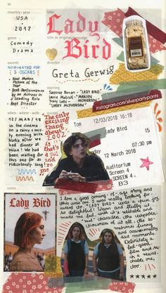 Ideas lady bird aesthetic for 2019 Movie Collage, Wall Collage, Room Posters, Poster Wall, Movie Posters, Handwritten Text, Plakat Design, Best Director, Young Blood