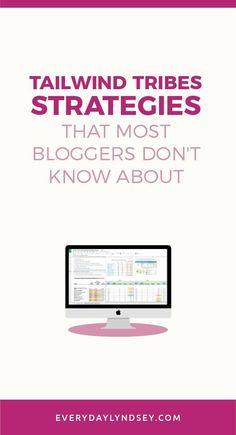 How to use Tailwind Tribes seems to be a closely guarded secret because nobody is sharing their Tailwind insider tips. This post is going to teach you the exact strategy I am using and I'm including a resource you absolutely must have Marketing Services, Online Marketing, Social Media Marketing, Marketing Strategies, Content Marketing, Affiliate Marketing, Thing 1, Pinterest For Business, Blogger Tips
