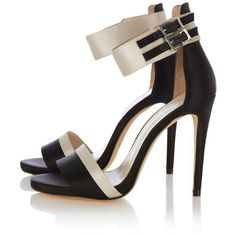 Karen Millen Color Block Ankle Strap Sandals (1,325 CNY) ❤ liked on Polyvore featuring shoes, sandals, heels, sapatos, scarpe, buckle sandals, high heel ankle strap shoes, block-heel sandals, ankle tie sandals and ankle strap heel sandals