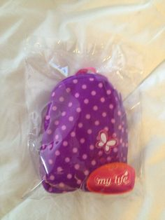 My Life POLKA DOT BACKPACK Doll 18 Battat American Girl Accessories NWT Purple