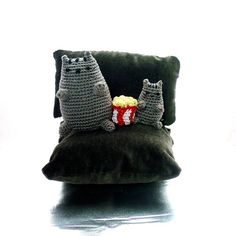 Pusheen movie night Pusheen crochet cat Crochet by OlMillies