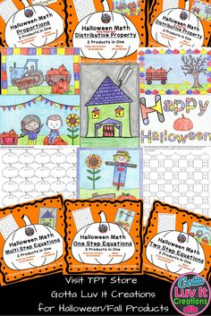 Fall / Halloween 2 products in One!  Color-by-Answer & Maze for the following concepts:  Proportions, One Step Equations, Two Step Equations, Multi Step Equations, Distributive Property With Negatives, & Distributive Property No Negatives.  Visit Gotta Luv It Creations on Teachers Pay Teachers
