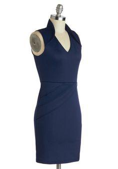 Who's That Navy? Dress   Mod Retro Vintage Dresses   ModCloth.com