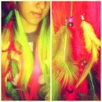 Statigram – Instagram webviewer braid hair multicolor @Manic Panic feather plumas fashion