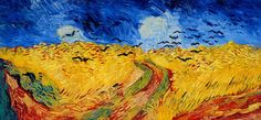 Wheat Field with Crows - Vincent van Gogh . Created in Auvers-sur-Oise in July, Located at Van Gogh Museum. Find a print of this Oil on Canvas Painting Vincent Van Gogh, Van Gogh Museum, Van Gogh Art, Art Van, Crow Painting, Painting & Drawing, Musée Van Gogh Amsterdam, Van Gogh Prints, Art Prints
