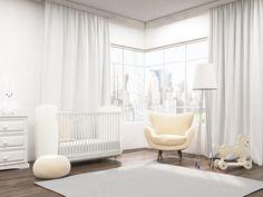Cortina para quarto de bebê vai muito além da decoração