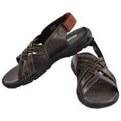 Ajanta Brown Men Sandals