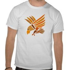 Soaring Eagle Art Design T-shirt #eagles #shirts #art #birds #zazzle #petspower