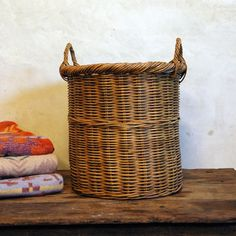 """from Etsy seller """"86 for the home""""  Love the wicker laundry hamper"""