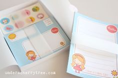 Under A Cherry Tree: Jin's Make-Your-Own Letter Stationery Set