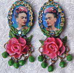 Lilygrace Frida Kahlo Cameo Earrings
