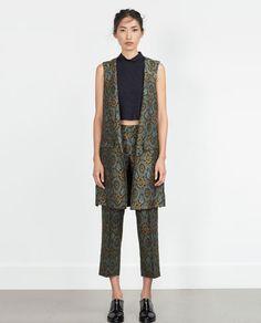 Image 1 of JACQUARD WAISTCOAT from Zara