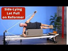 Reverse Knee Stretch with Alternating Leg Lift on the Pilates Reformer - YouTube