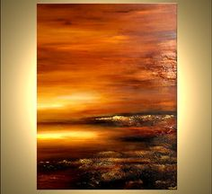 Original Contemporary Abstract Landscape Painting by OsnatFineArt, $890.00