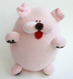 Plush Pink Dog Doll Moop by Claradolly, via Flickr