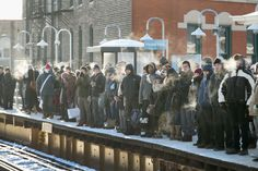 The morning commute in Chicago can grow seriously frigid in the heart of winter…