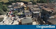 Drone footage shows aerial view of #earthquake damage to #Amatrice https://www.theguardian.com/world/video/2016/aug/24/drone-footage-shows-extent-earthquake-damage-amatrice-italy-aerial-video