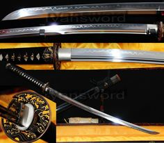 HANDMADE CLAY TEMPERED 1095 HIGH CARBON STEEL JAPANESE SAMURAI KATANA SWORD