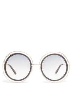 a4a64a6824d Chloé Carlina round-frame sunglasses Circle Sunglasses