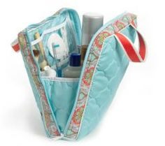 love this! Vertical Cosmetic in Casablanca Sky Blue $65.00