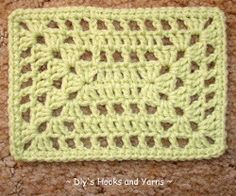 Honeydew Rectangle Square | AllFreeCrochetAfghanPatterns.com