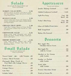 Menu of the Week: Holiday Inn, 1969                    Classic American comfort food
